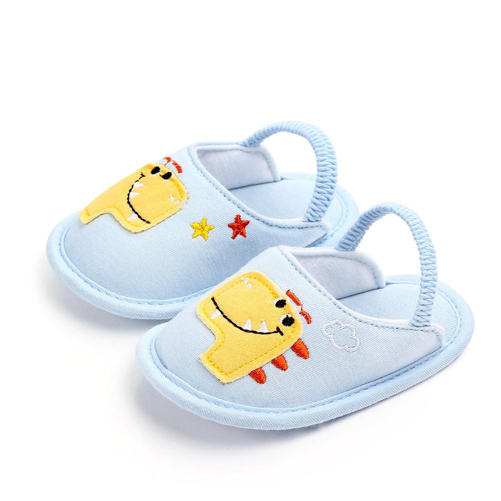 Pantoufles Pour Enfants Mignon Bébé D'été Intérieur Antidérapant Garçon Fond Doux Chaussures En Tissu De Mode Bébé Chaussures 0-18 M