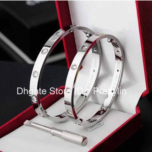 Popular Fashion New rose gold 316L stainless steel screw bangle bracelet with screwdriver and original box never lose bracelets