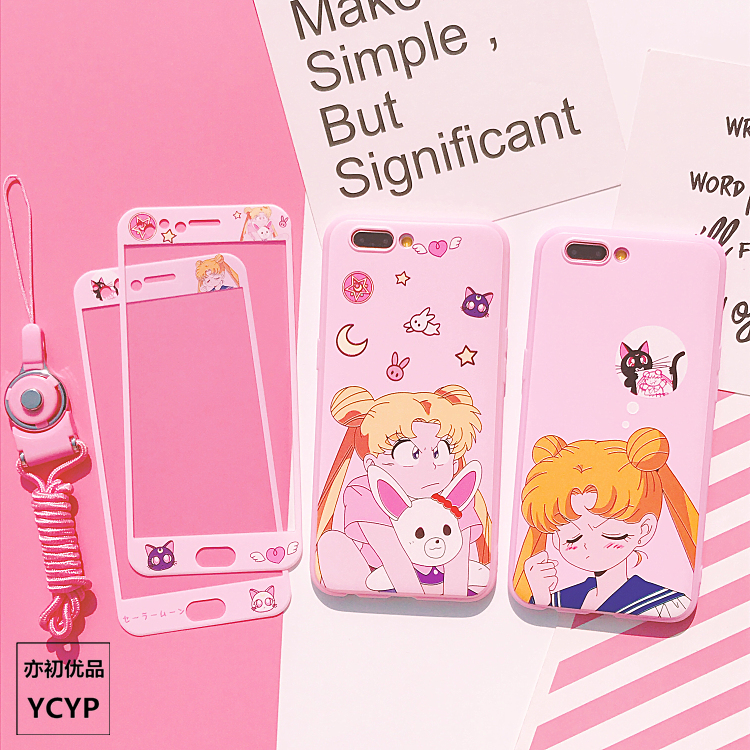 luna sailor moon cover For huawei P20 /P20pro /nova 3/ 2s /3e TPU case & front tempered glass for huawei P10 /plus V10 mate 9/10