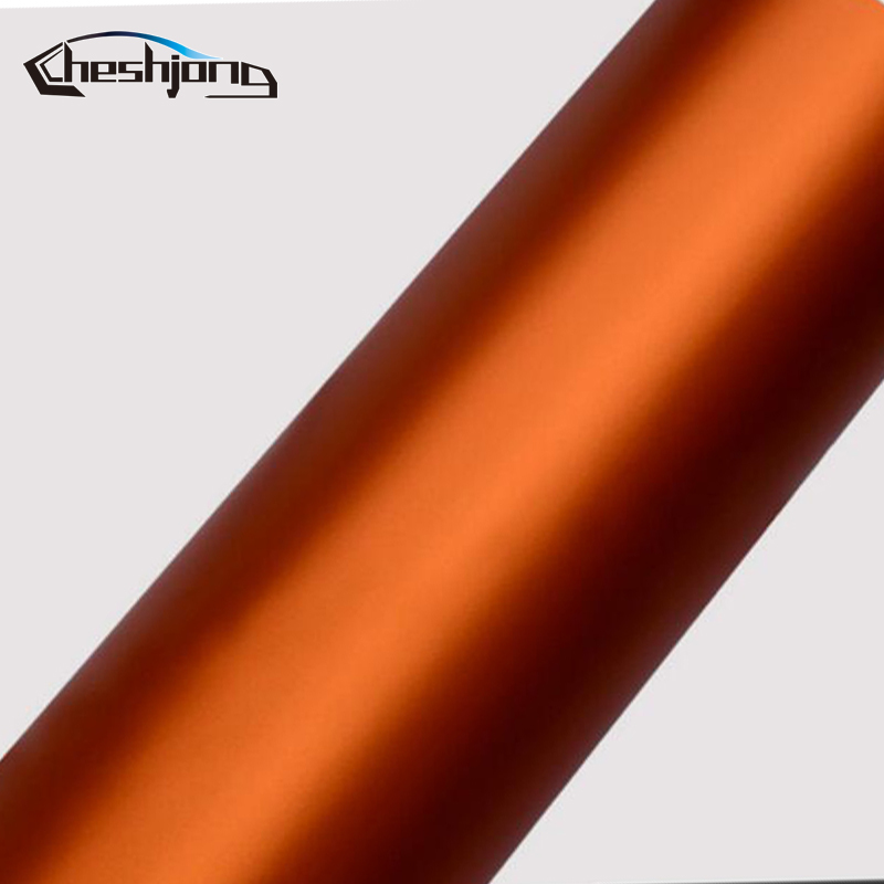 Orange-Matte-chrome-Vinyl-Film-car-sticker-04