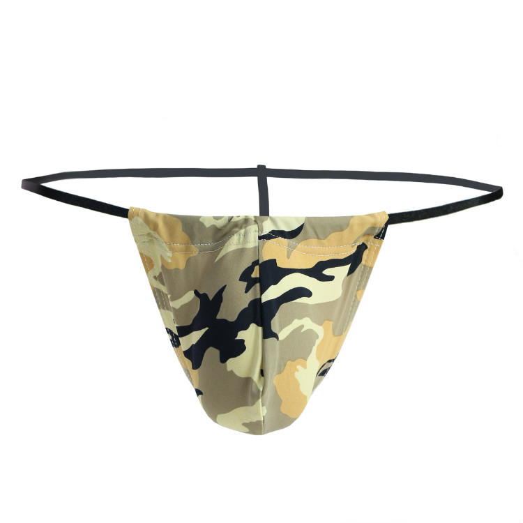 New Men Bikini Sexy Men G String Panties Man Fashion Thongs Sissy Jockstrap Funny Mini Underpants Gay Camouflage Underwea