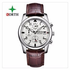 2018-New-North-Brand-Fashion-Men-s-Watch-Luminous-Quartz-Leather-Casual-Men-s-Watch-Clock