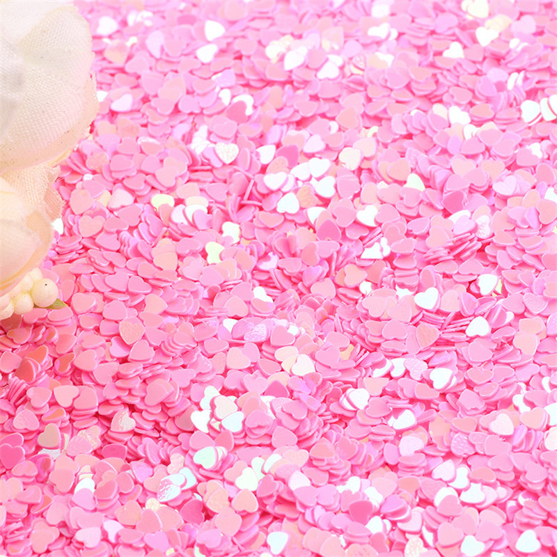 500g 3MM Tiny Sparkle Heart Wedding Party Confetti Nail Sequins Flakes Art Glitter Decorations Table Decoration Party Decor