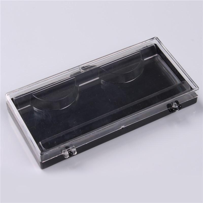 Plastic Eyelash Storage Case Packing Box Transparent Lid black Tray for Grafted eyelashes