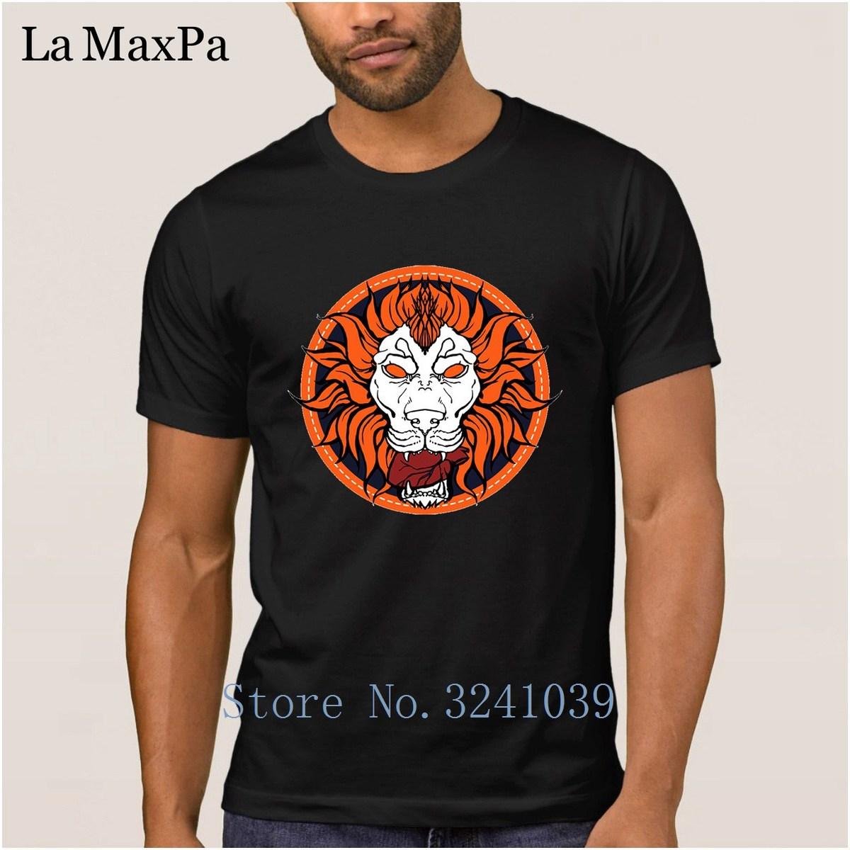 Knitted Funny Men T Shirt Cotton Simple 2018 Tshirt Man Shado Lion T-Shirt For Men Male Camisas Shirt Plus Size 3xl Interesting