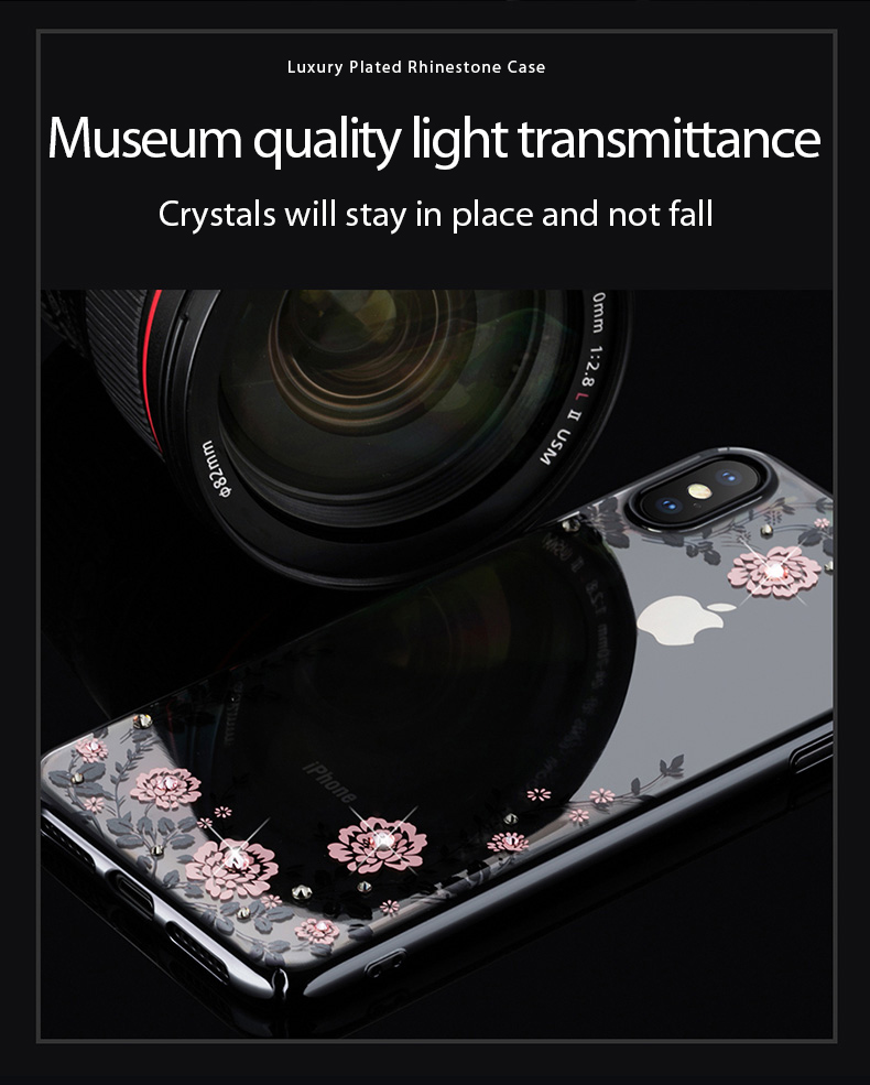 KINGXBAR Case for iPhone Xs Case Gorgeous for iPhone Xs Max Cover Luxury for iPhoneXs Cover Transparent Crystals from Swarovski (11)