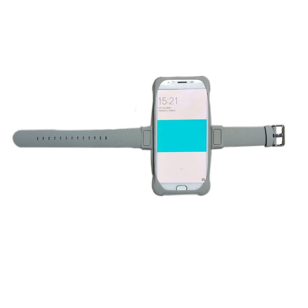 Lovoski Portable Sports Wrist Arm Band Pouch Mobile Phone Holder gray