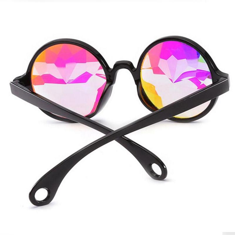 Parti Gözlük Komik Disko Mozaik Güneş Gözlüğü Yuvarlak Güneş Cam Kristal Sunglass Konser Gösterisi Gözlük