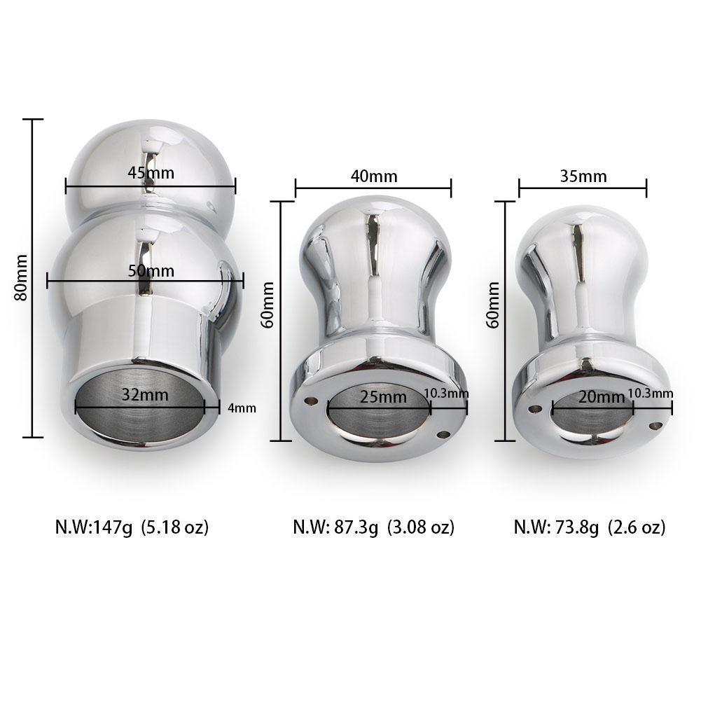 RABBITOW Aluminiumlegierung Metall Hohl Anal Tunnel Plug Einlauf Vaginal Clean Head Pussy Butt Plug Expansion Stimulieren Dilatator S924