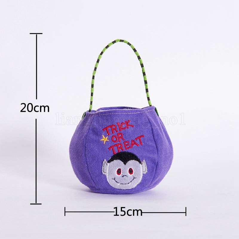 4 estilos de Halloween Candy Bag calabaza Tote kids bruja de dibujos animados Bolsa Portátil de mano Fantasma Festival Decoraciones caramelo bolsa mágica FFA858 60 unids