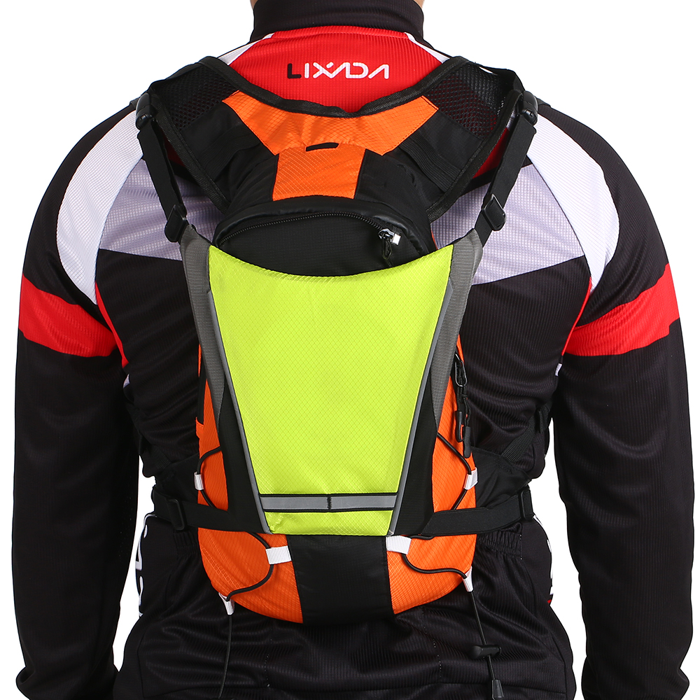 wholesale USB Rechargeable Reflective Backpack Attachment Clip with Remote Control LED Signal Light Outdoor Sport Safety Bag Gear