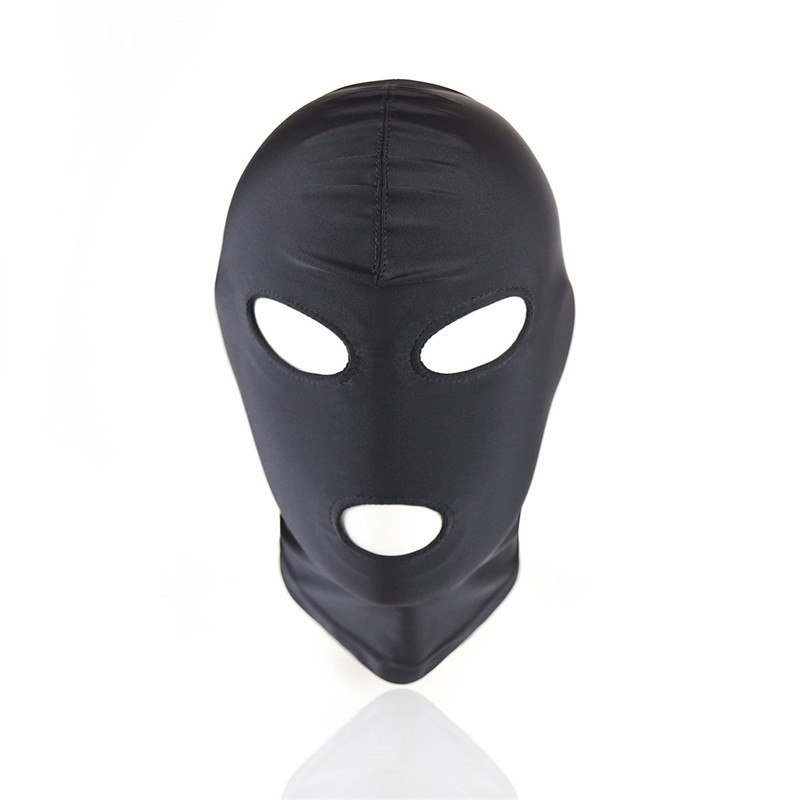 Adult Games Sex Mask Open Mouth Eye BDSM Bondage Fetish Mask,Restraint Sex Kinky Mask Hood Erotic Slave Cosplay Toys For Couples S924