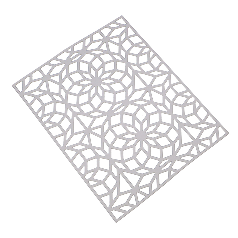 Metal Cutting Dies Geometrics Embossing Dies DIY Scrapbooking Paper Cards Photo Album Decoration Stencils Crafts Template Silver