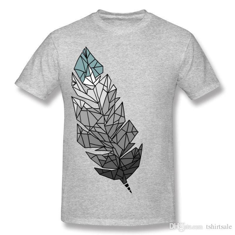 Nueva Llegada Compre Adulto Algodón FEATHER De Camiseta Porcentaje 6f7yvYbg