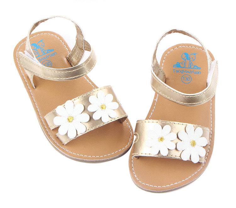 New Summer Baby Flower Shoes Infants Girl Bebe First Walkers Toddlers Rubber Sole Outside Shoes