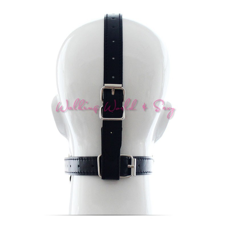Leather Head Harness Bondage Restraints Mask Open Mouth Gag Silicon Ball Toys Sex Games Adult Fetish Product For Women Men (8)