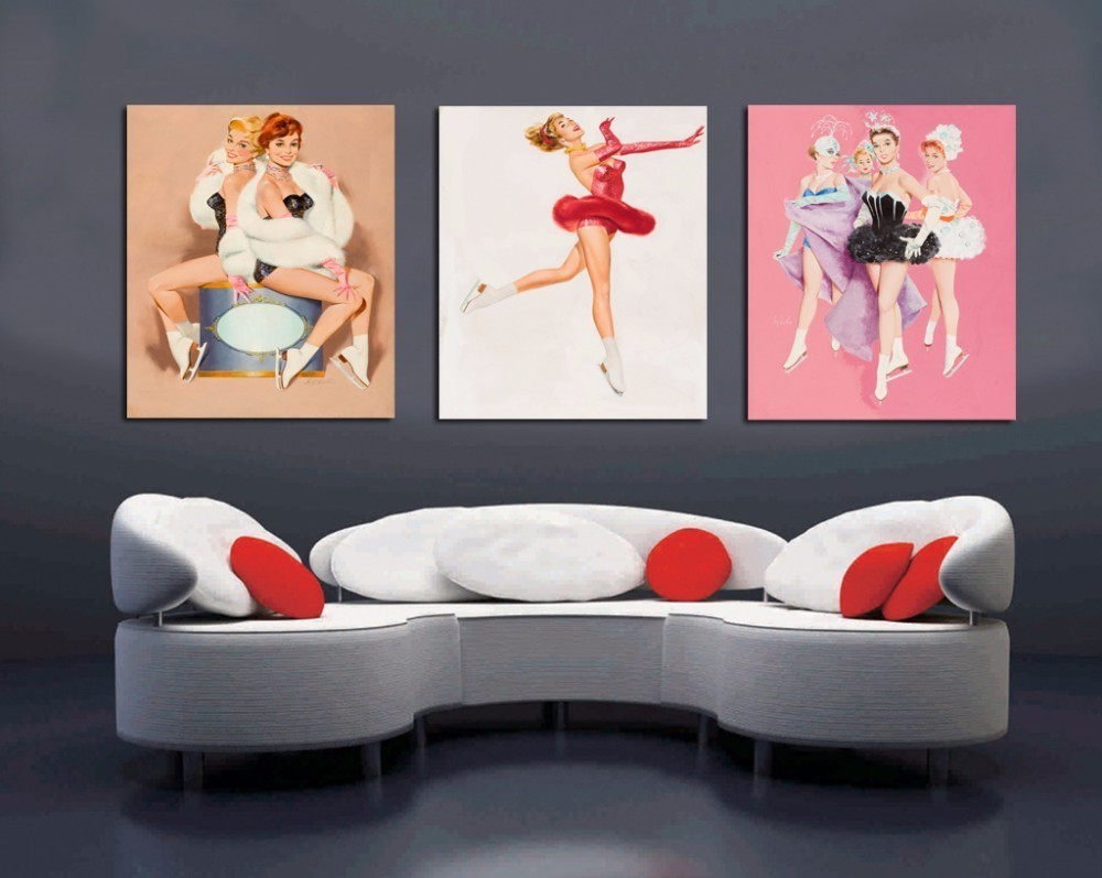 Hot Sale sexy open photos Ballet Girl b f wallpaper Wall art canvas painting Poster Body The new listing