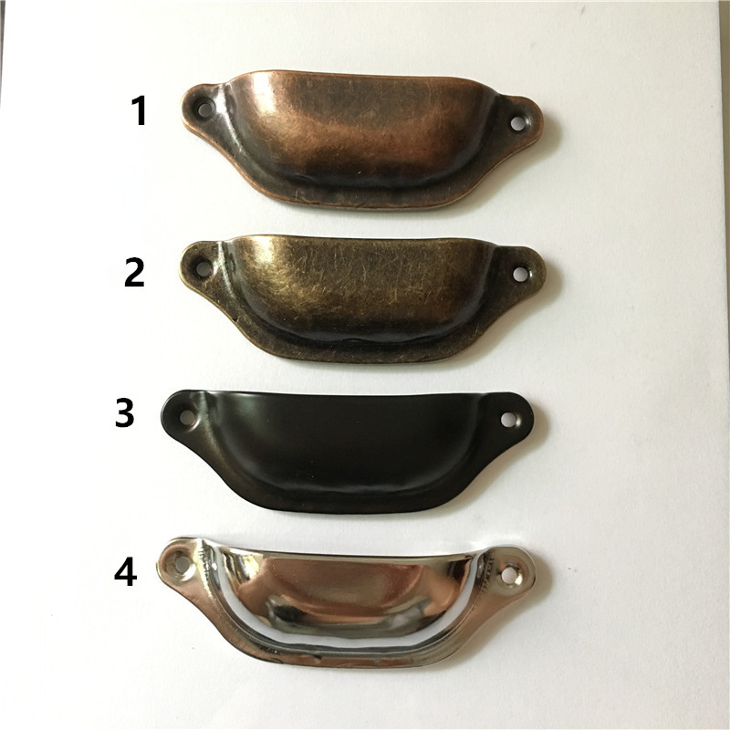 Pack de 6 Acier Rétro Vintage Shell creuses Tirez Armoire Commode Tiroir Armoire