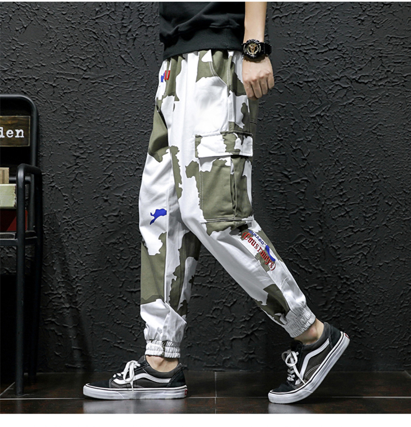 High Street Trousers Men Streetwear Pantalon Hombre Fashion (4)
