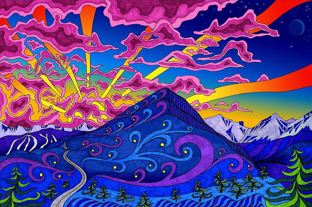 Poster Psychedelic Trippy Colorful Ttrippy Surreal Abstract Digital Art Print 85
