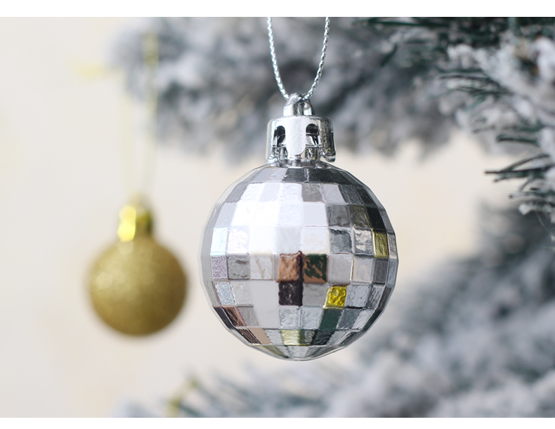 10 inhoo 50pcsset White gold balls Christmas Tree Decoration Ball Ornaments Pendant Accessories Decor For Christmas Home Party