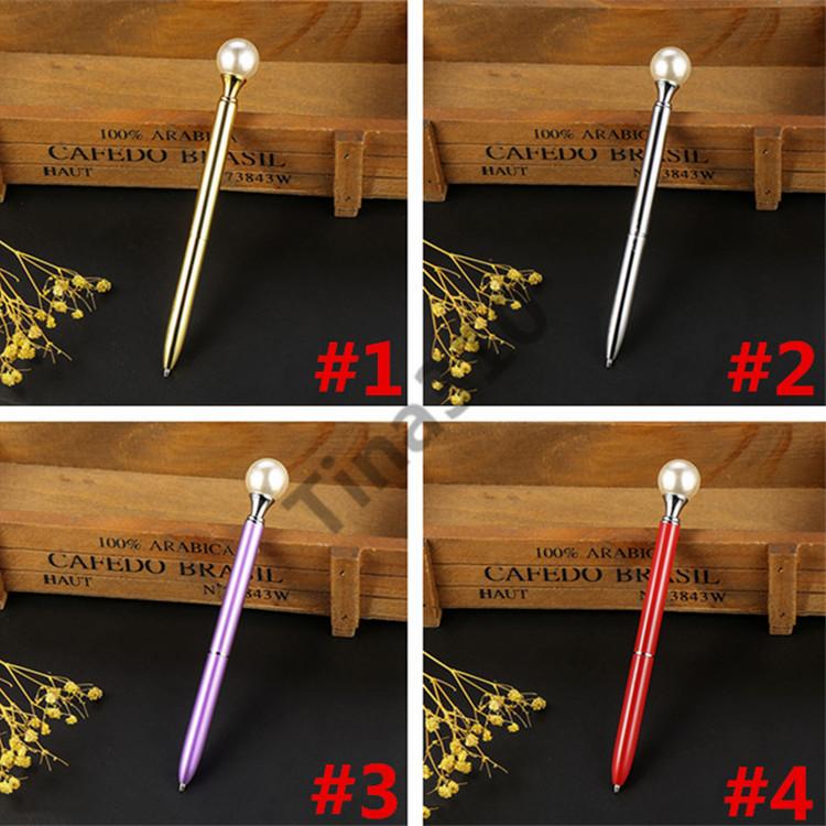 Tükenmez Kalem Döner Kristal kalem Tükenmez Kalem Büyük Elmas Moda Okul Öğrenci Lüks Ofis Malzemeleri Ile 100 adet T1I960