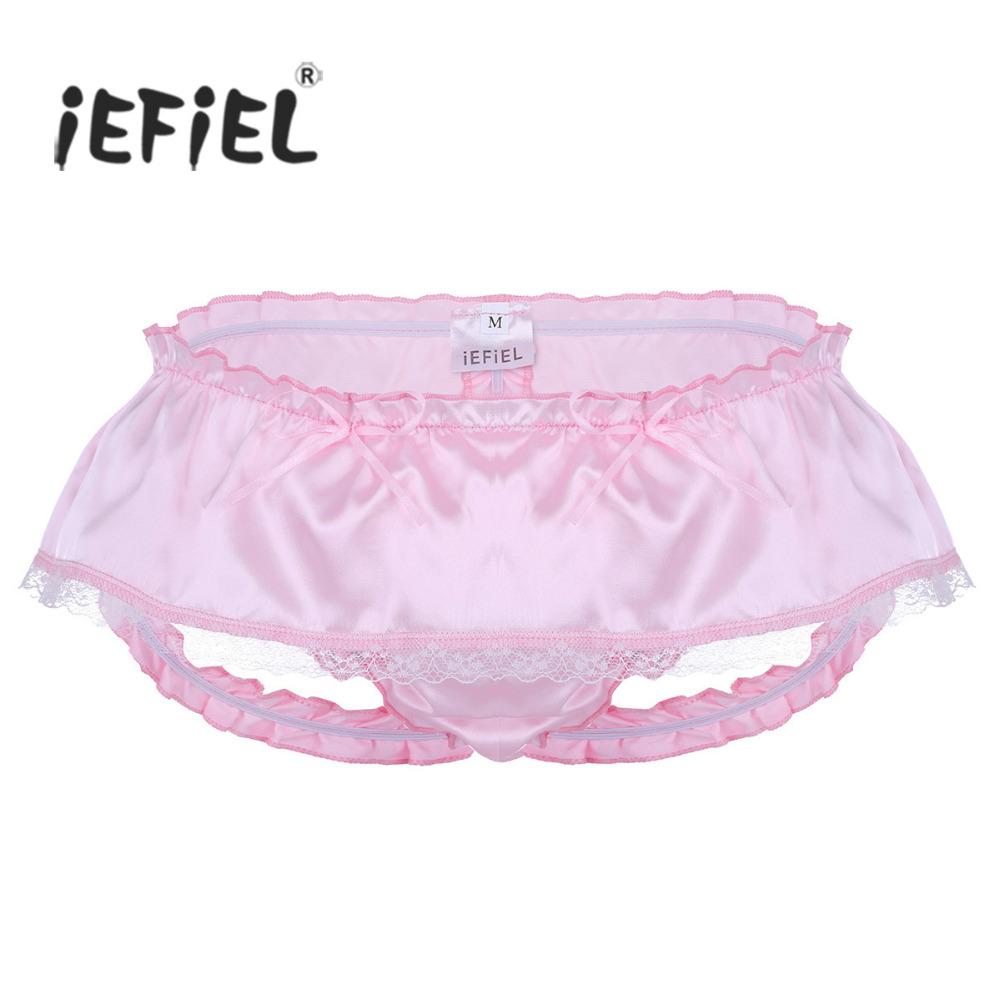 Großhandel Viel von 10 Stück Satin Hose Pantalons Sissy Baby für mit Unterwäsche