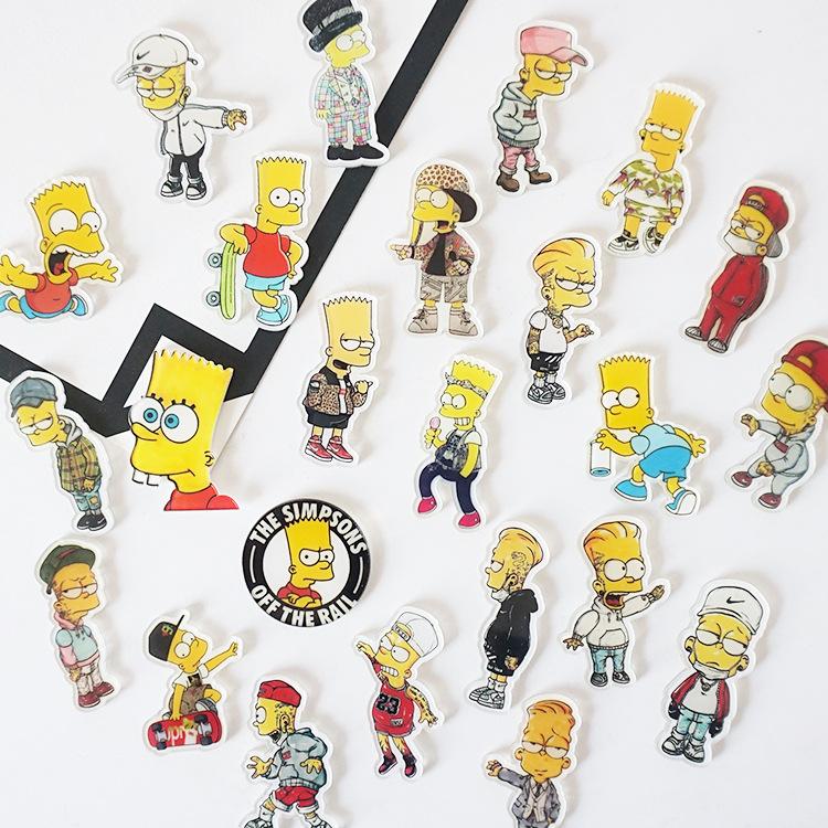 24 Muster Niedlichen Cartoon Die Simpsons Acryl Kühlschrankmagnete für Kinder Früherziehung Dekoration Ornamente Wand Postbox Spielzeug Küche Decor