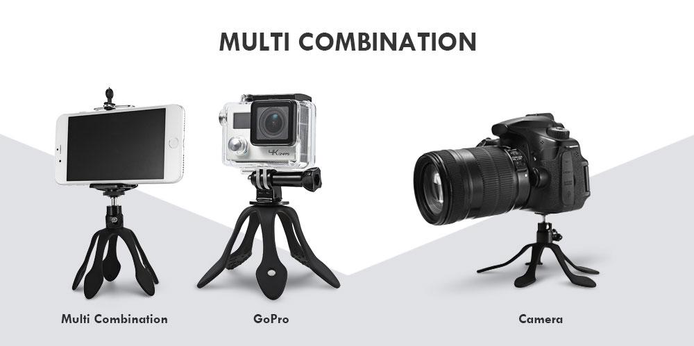 Flexible Gecko Stand Holder Mini Mount Tripod Portable for Smartphone Camera GoPro