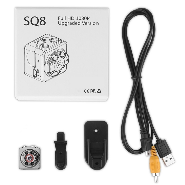 Super Mini Camera SQ8 Portable DV Sports Camera 1080P 720P HD Car Night Vision DVR Motion Activated Camera with Retail Box