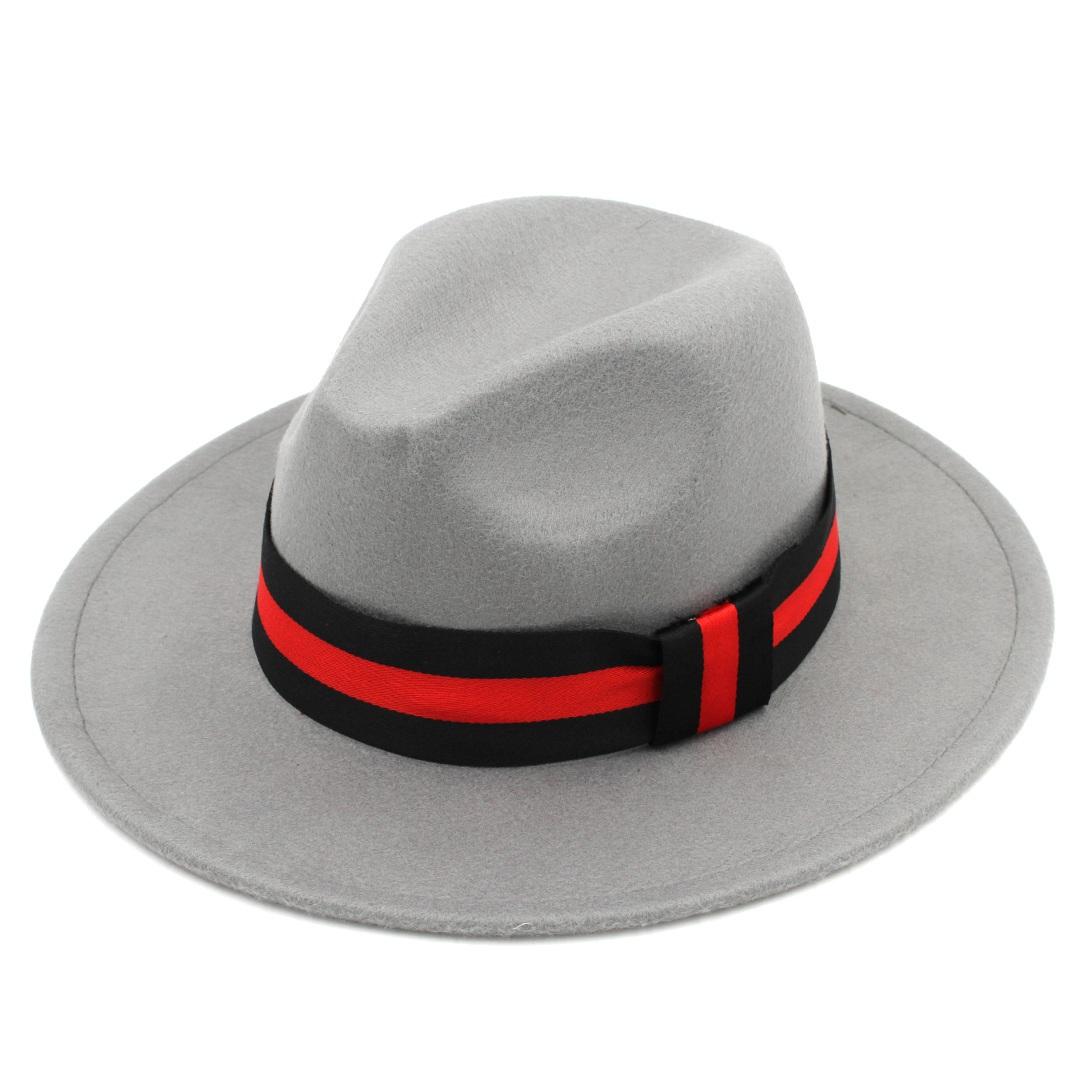 Panama Laine unisexe Vintage Blend Hat Jazz Outdoor large Parrain Brim Sombrero Cap Fedora Chapeaux Taille 56-58cm