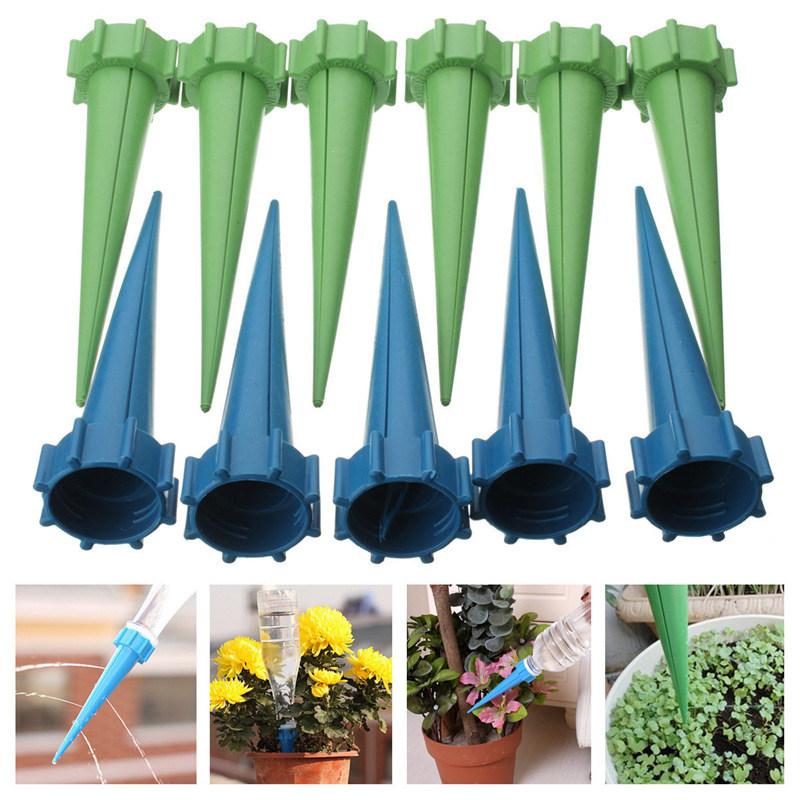 12x Automatische Kunststoff Bewässerung Garten Blume Pflanze Wasser Einstellbar