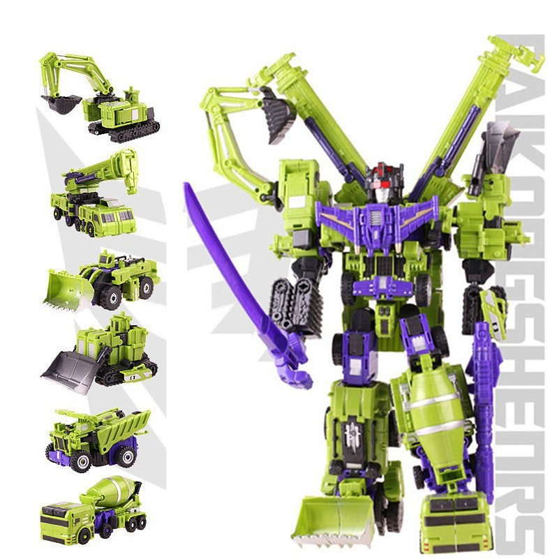 2018 New Big Size Transformation Devastator Boys Toys Action Classic  Figures Robot Model Constructions Anime Engineering Vehicle Gift From