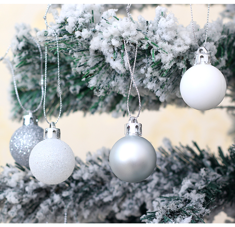 07 inhoo 50pcs Silver White Balls Christmas Decorations for home Christmas Tree Decor Craft Ball Ornaments Pendant Xmas Gifts 2019