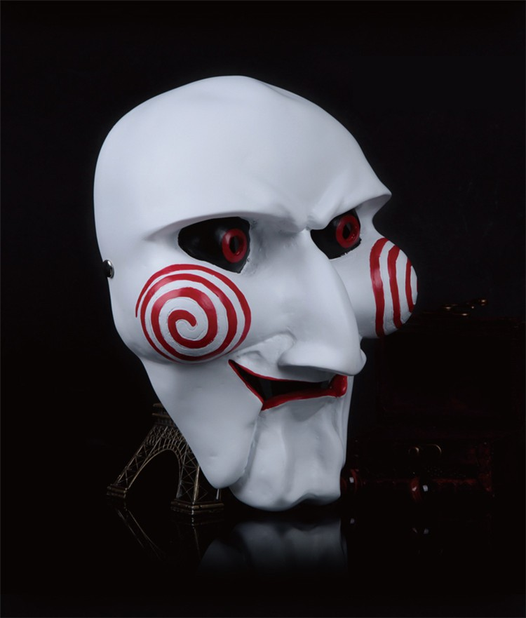 NEW Halloween Gift Electric Saw Mask Cosplay Party Horror Movie men Adult Full Face Mask Creepy Scary Resin High quality FA34 (2)