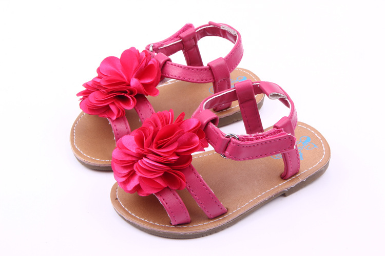 Summer Fashion Hard Sole Baby Shoes Infants Girls Flowers Prewalker Toddlers Baby Princess Shoes