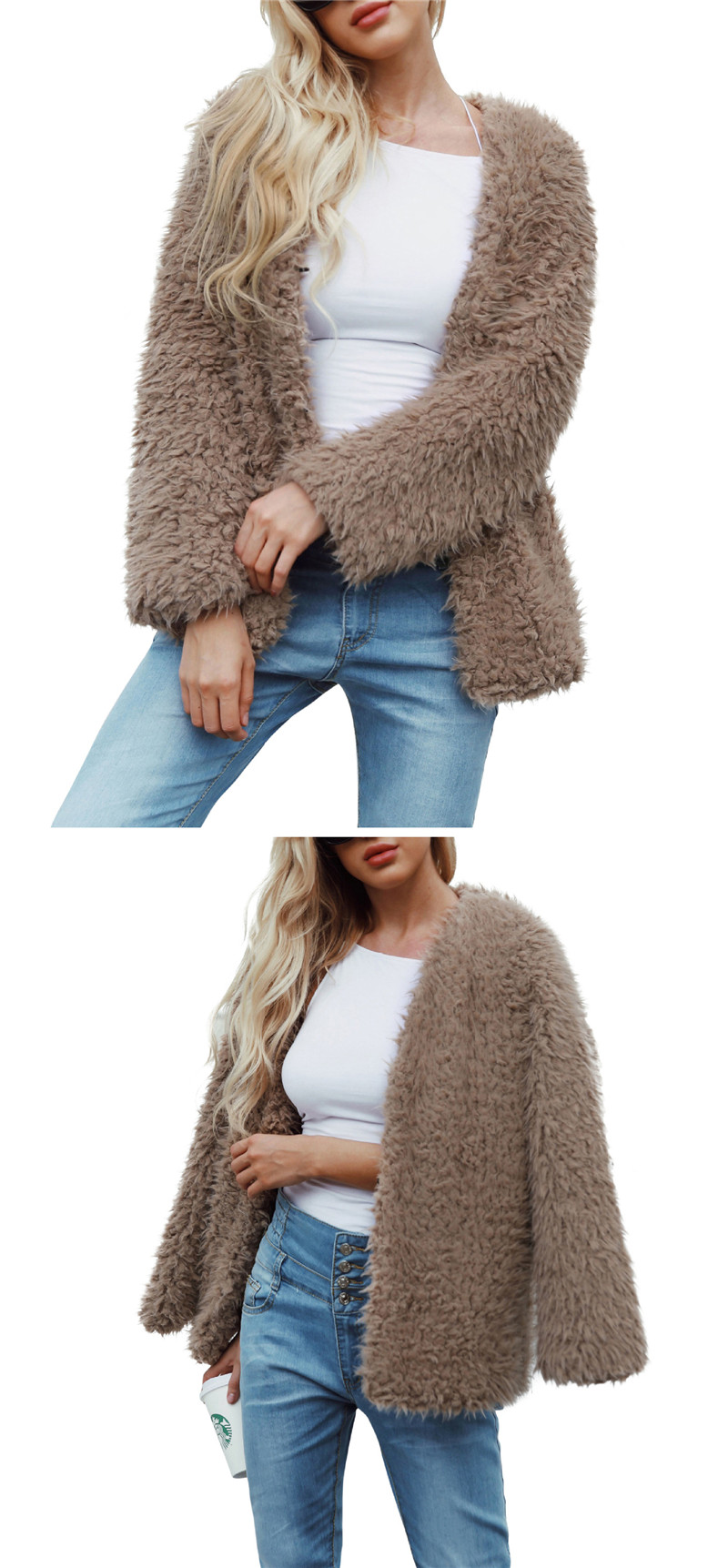 European and American fashion fur coat with warm coat and fur coat (2)