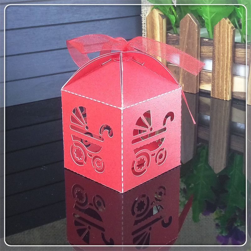 Laser Cut Carriage Wedding Candy Box Baby Shower Christmas Halloween Gift Box Wedding Favors Gifts Candy Boxes 6ZT14
