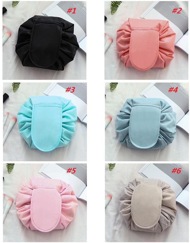 Hot cosmetic bag big capacity drawstring make up bag travel pouch women sundries storage bags without logo Korea trend Storage Bags D0039