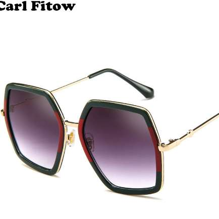 High Quality Square Sunglasses Women Brand Designer Vintage Retro Big Frame Sunglasses Female Sun Glasses For Women Shades