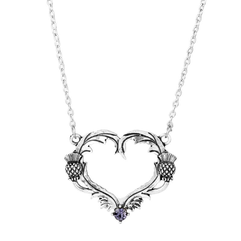 Femmes en forme de cœur cadeau des fêtes verre séché Fleur Collier Pendentif 10pcs