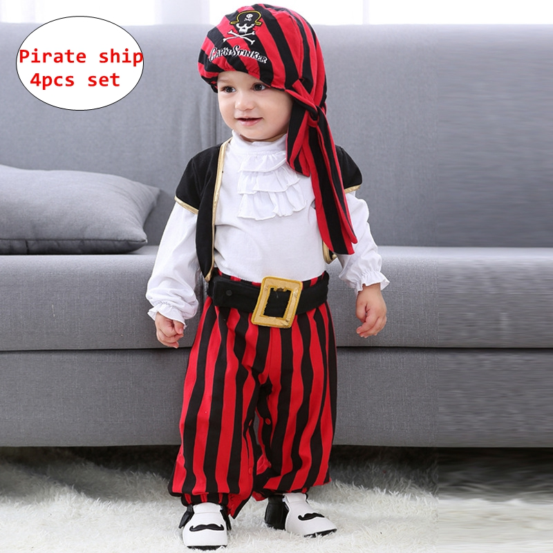 Clothing Baby cosplay Outfit Lodumani Captain Pirate Style Long Sleeve Costume