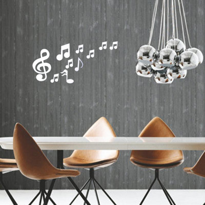 Musical Notes Acryl Spiegel Wand Kunst Wohnkultur Aufkleber Wandaufkleber Moderne Dekoration DIY Kunst Aufkleber