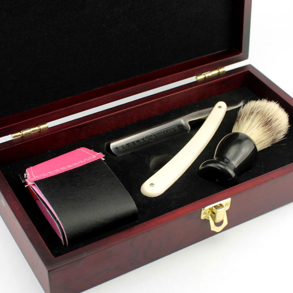 ZY-Vintage-Gold-Dollar-600-Straight-Shaving-Razor-Set-Men-Cut-Throat-Folding-Knife-Bristle-Hair (2)
