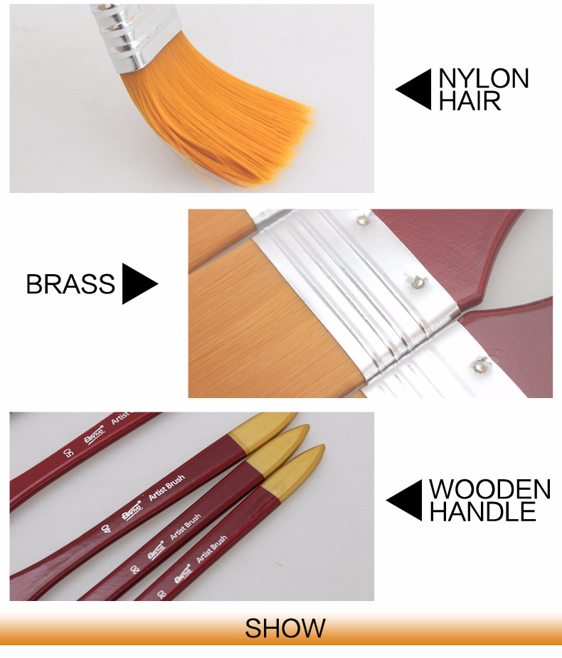 Paint Brushes Acrylic Graffiti Brush Set For Artist Oil Scrubbing Brush School