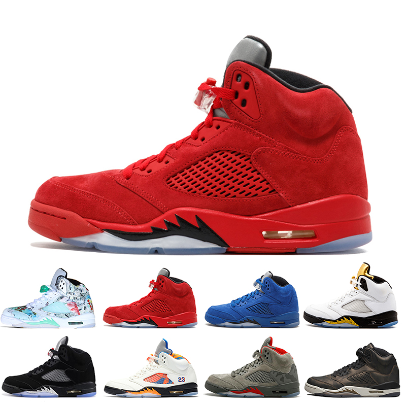 5 5s Wings International Flight Chaussures de basket ball pour hommes 16 Prem HC Low China Silver White SUP chaussures de sport pour hommes