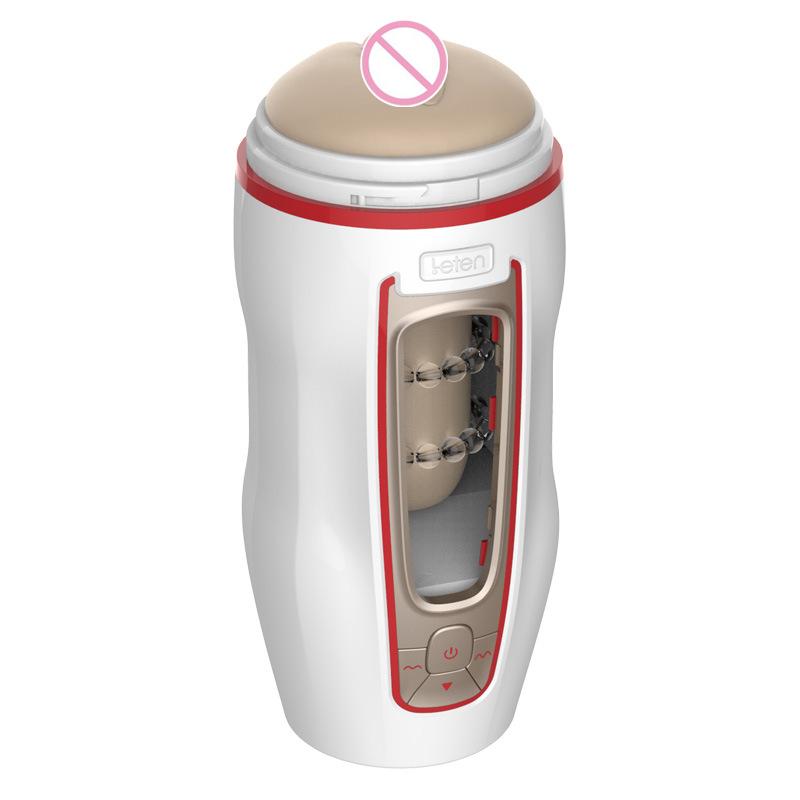 Leten Automatische Männlicher Masturbator Pussy Cup Tasche Künstliche Vagina 49 Modi Starker Vibrator Masturbation Sex Spielzeug Für Mann S919