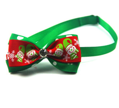 Christmas Holiday Dog Bow Ties Cute Neckties Collar Pet Puppy Dog Cat Ties Accessories Grooming Supplies