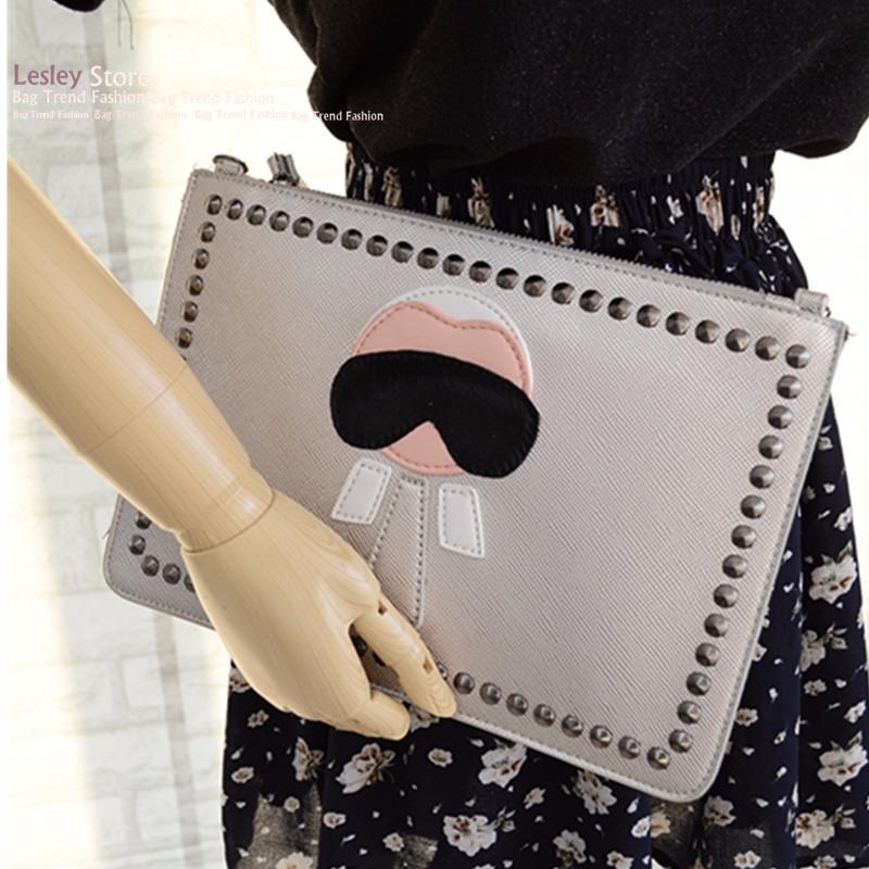Fashion Designer Borse da donna Borse a spalla portafoglio rivetto catena frizione avvolgere lembo Messenger Bag borsa del partito la ragazza BA059 Y18110101