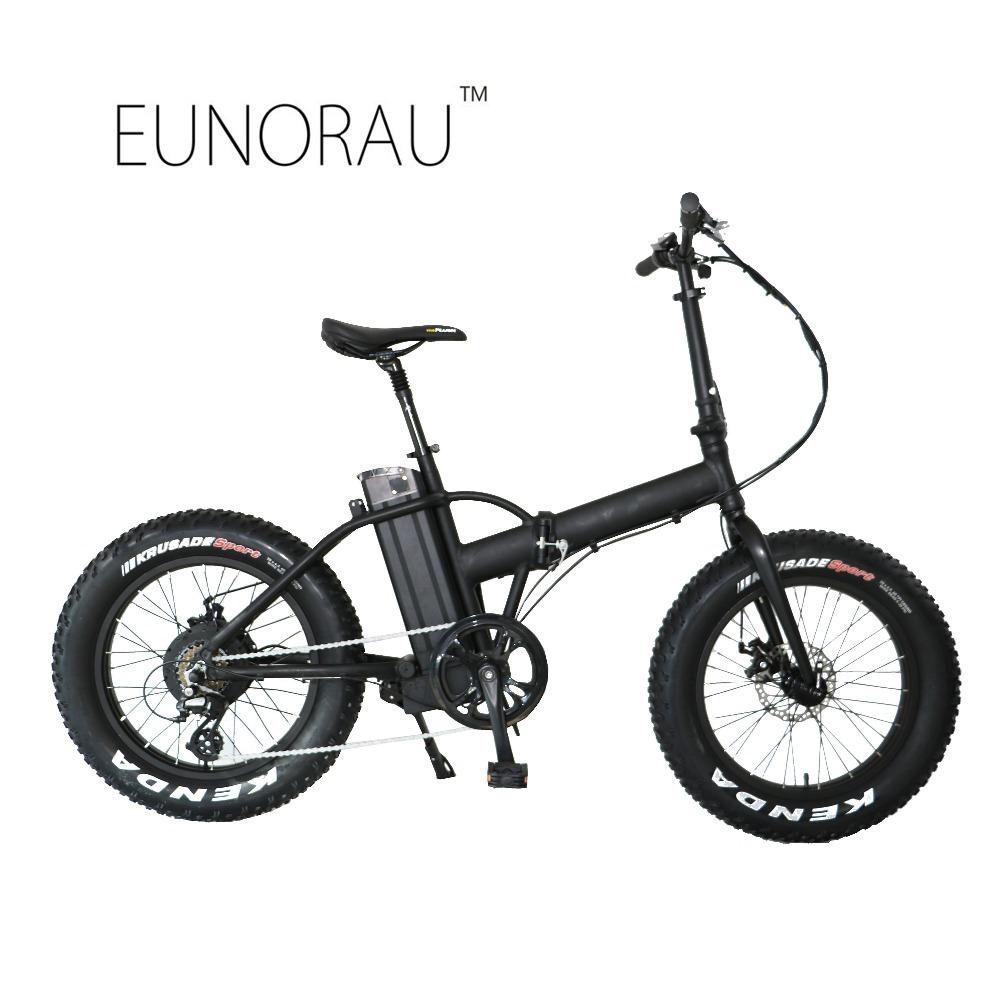 Drop shipping USA/CANADA 20*4.0 48V500W Fat tire electric Mountain bike/Snow bike/electric folding bicycle